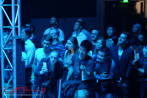 Crowd watching show, Raffles College 2012 Graduate Fashion Show Carriageworks, Everleigh Sydney