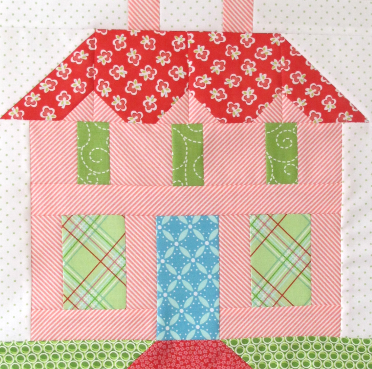bee in my bonnet my home sweet home quilt block pattern in quiltmakers magazine 100 blocks. Black Bedroom Furniture Sets. Home Design Ideas