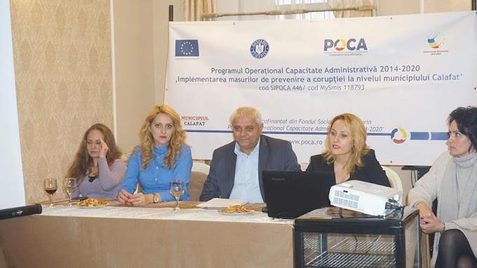 """Conferința de lansare a proiectului """"Implementarea măsurilor de prevenire a corupției la nivelul Municipiului Calafat"""""""