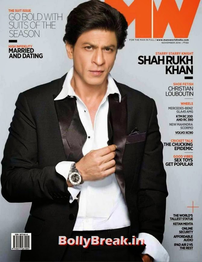 Shahrukh Khan, Bollywood Actors Hot & Sexy Pics on Magazine Covers