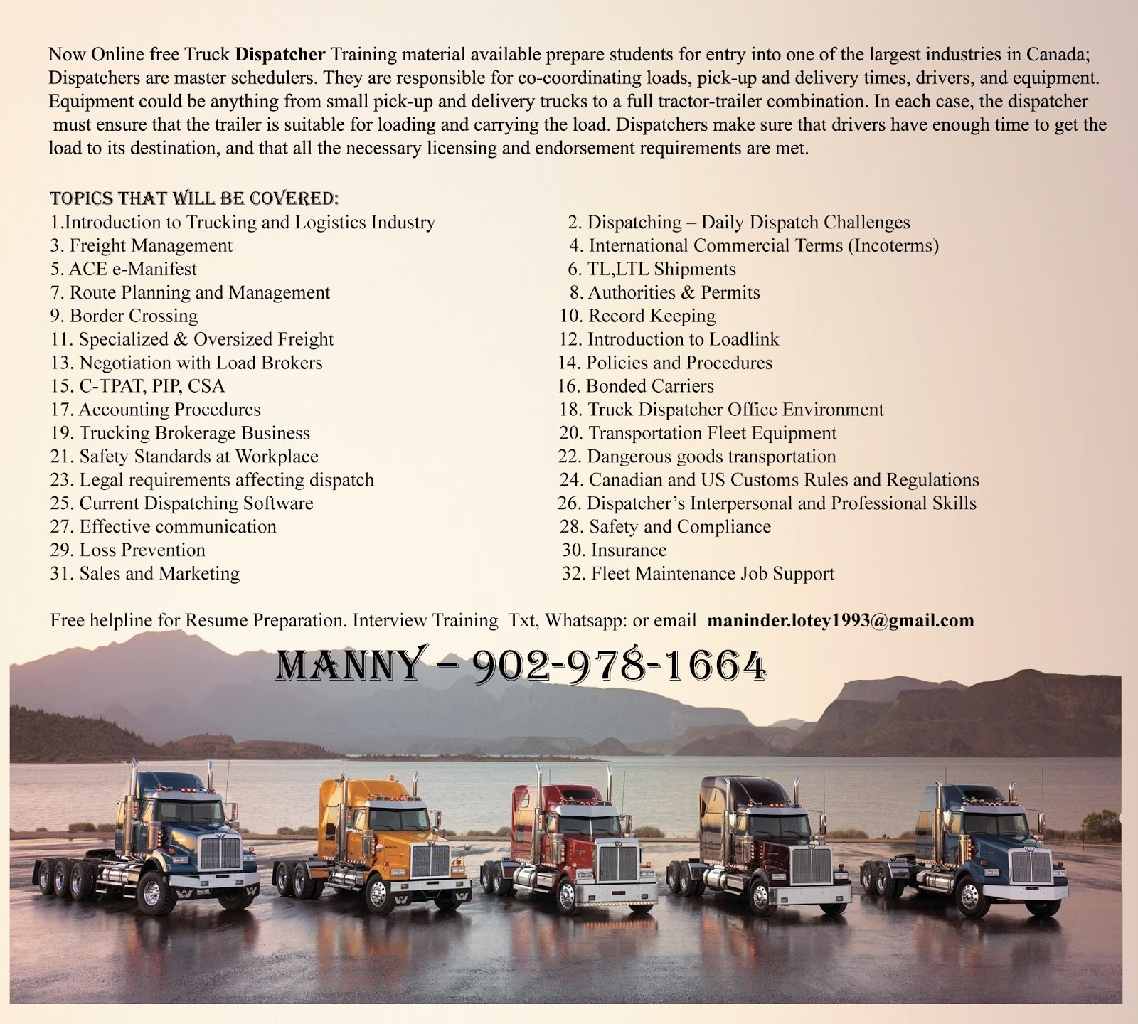 Trucking Secrets: Learn Dispatching-Free Info