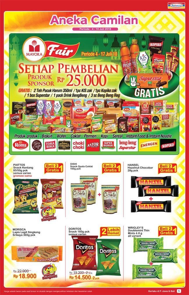Indomaret - Katalog Aneka Camilah Murah (04 - 10 Juli 2018)
