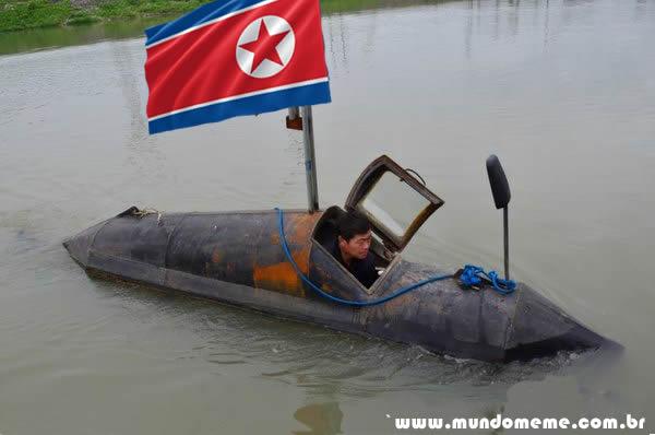 www.mundomeme.com.br - Coreia do Norte revela seu terrível novo Submarino