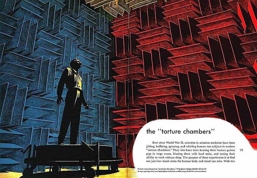 Lee J. Ames illustration, the torture chambers