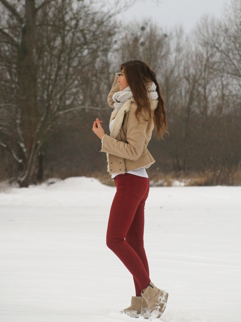 burgund jeans&camel