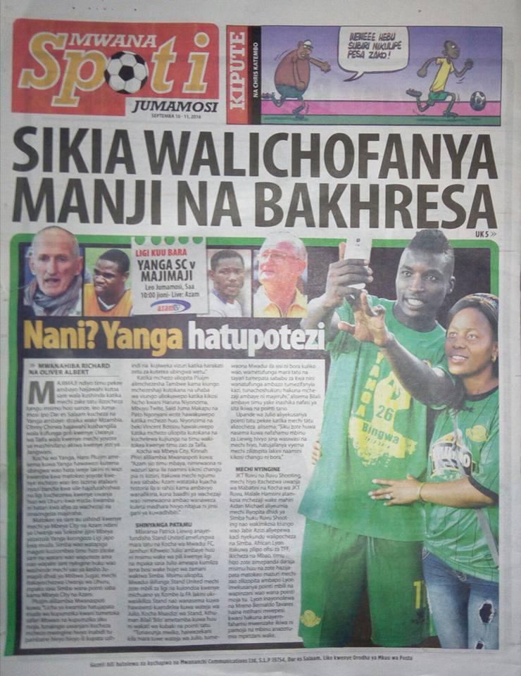 Habari Zilizopo Katika Magazeti Ya Leo Jumamosi Ya ...