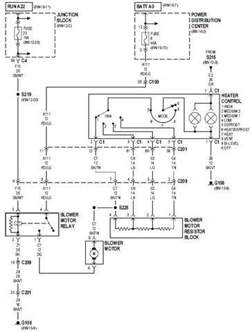 Wiring Schematic Diagram: 2000 Jeep Cherokee Heater