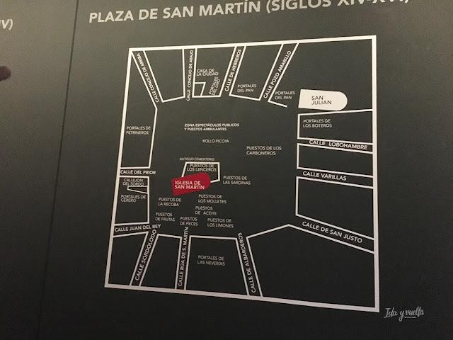 Plaza de San Martín en los siglos XIV y XV