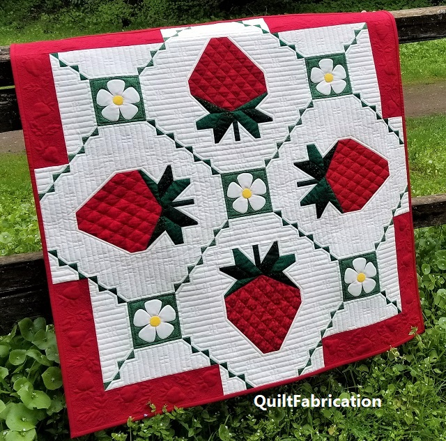 Strawberry Splendor 38 x 38 wall hanging pattern