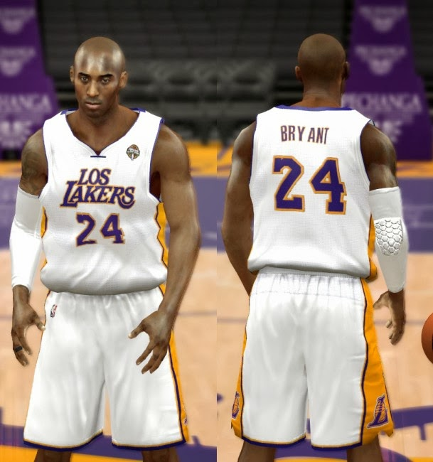 NBA 2K14 Complete Los Angeles Lakers Jersey Patch