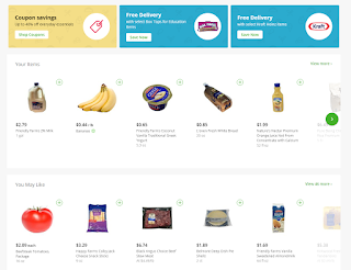 An example of Instacart's navigation, via browsing a grocer's selection