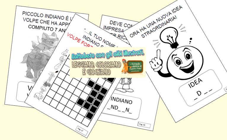 Schede ed attivit didattiche del maestro fabio per la scuola primaria - Letto scrittura schede ...