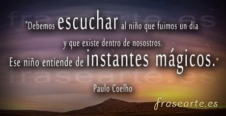 Frases para volver a ser niño, Paulo Coelho