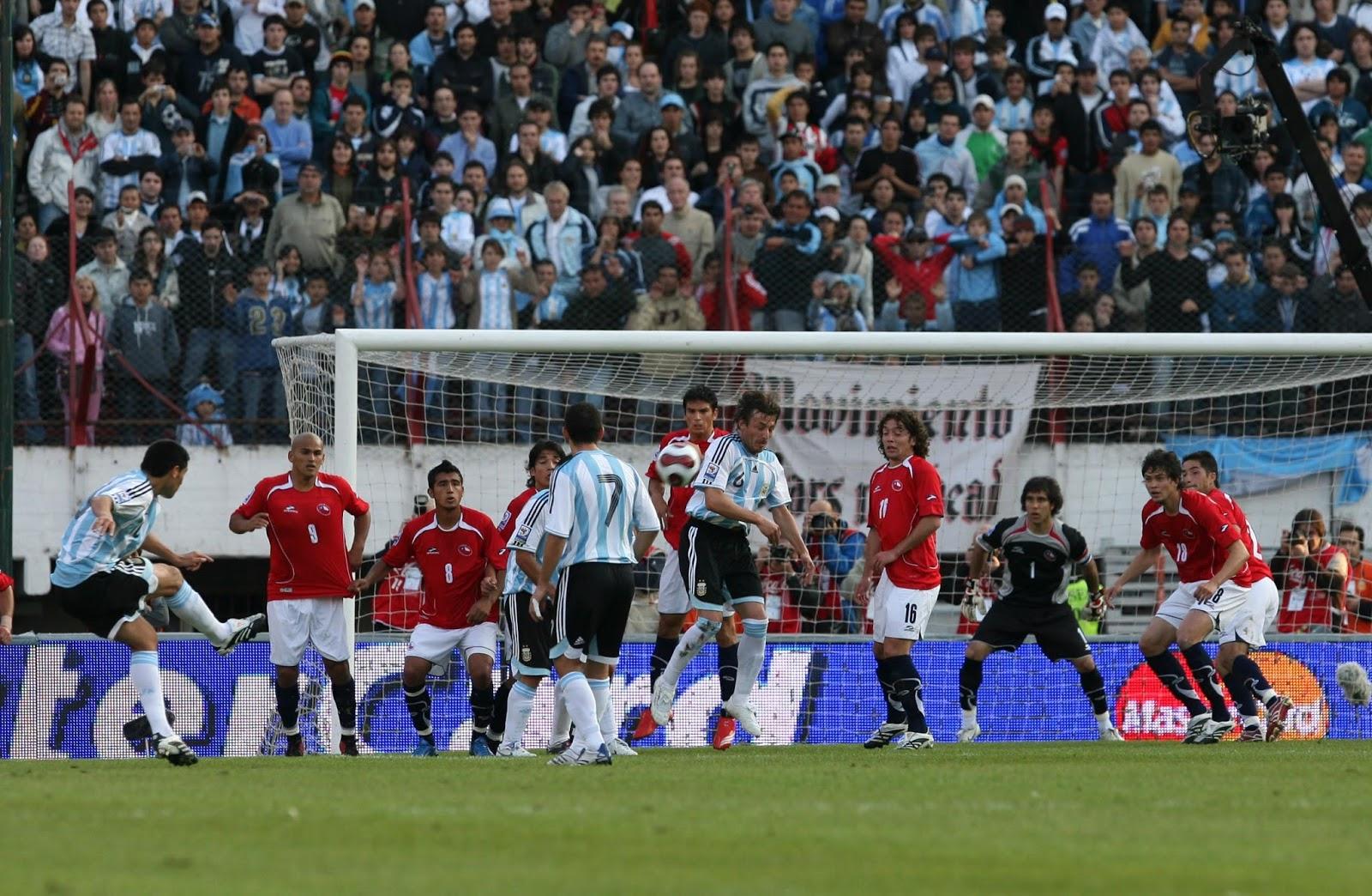 Partidos de la Roja: [13/10/2007] Argentina-Chile   2:0