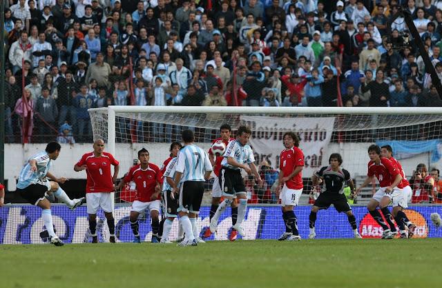 Argentina y Chile en Clasificatorias a Sudáfrica 2010, 13 de octubre de 2007