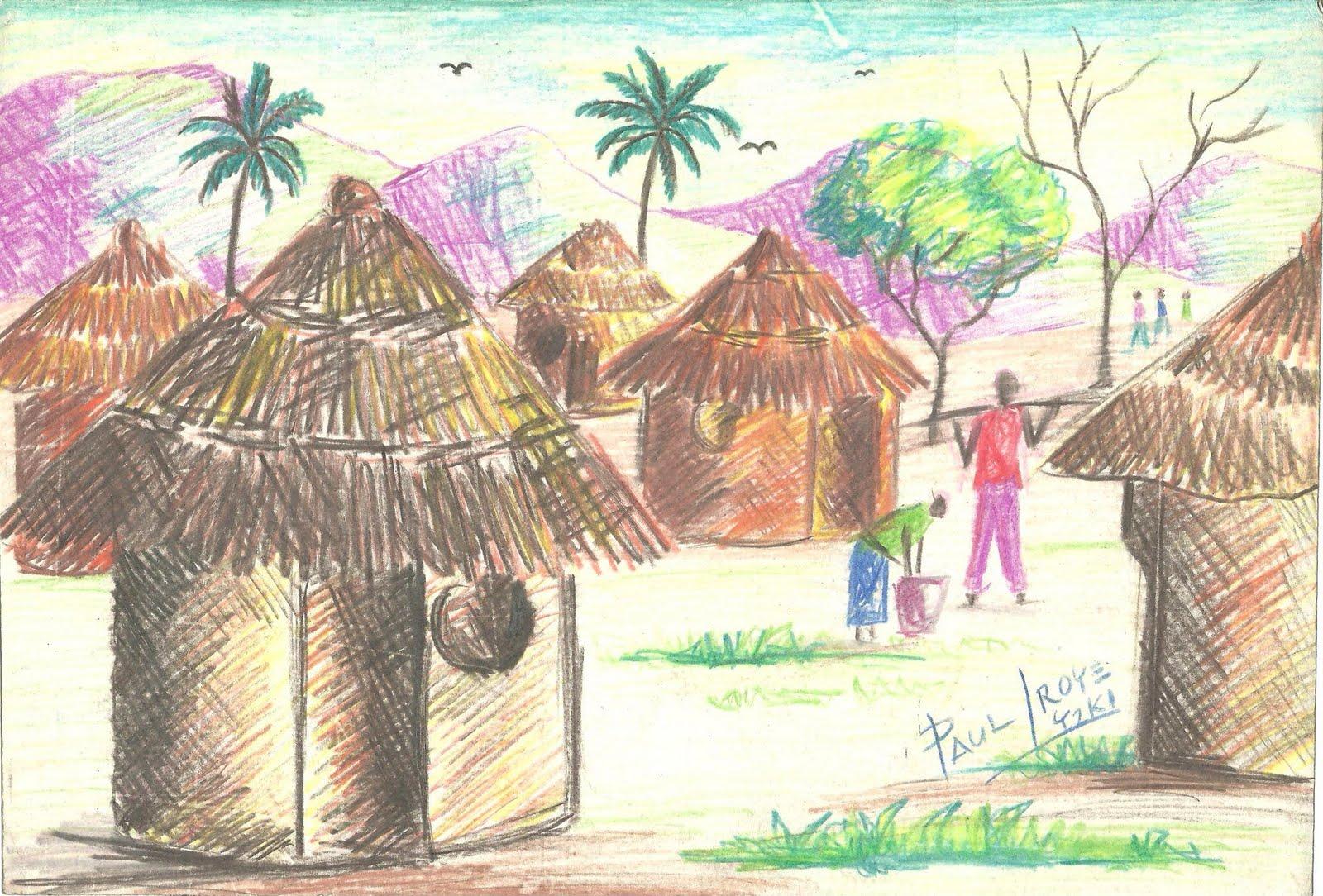 A Village Fair Drawing Desenhos Para Colorir