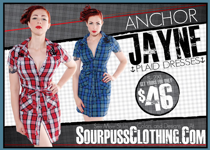 a8f0e4f4b17d Sail on with our New Plaid Anchor Jayne Dresses! / Sourpuss Clothing ...