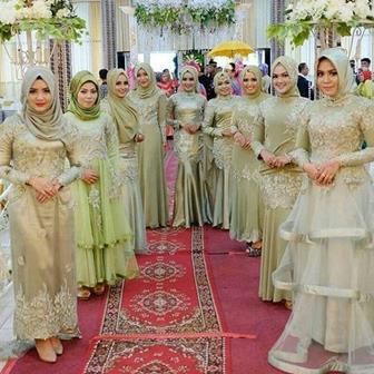 Contoh Busana Kebaya Muslim Brokat Modern