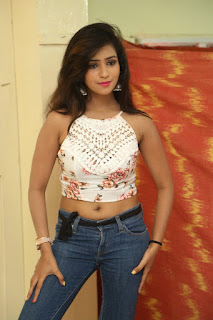 Deekshita Parvathi in a short crop top and Denim Jeans Spicy Pics Beautiful Actress Deekshita Parvathi January 2017 CelebxNext (21).JPG