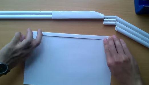Cách làm súng M5 Matte Nickel Shotgun bằng giấy