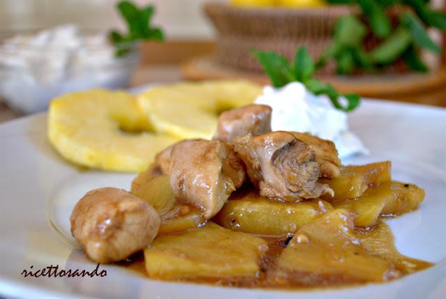 ricetta di Bocconcini di pollo e ananas