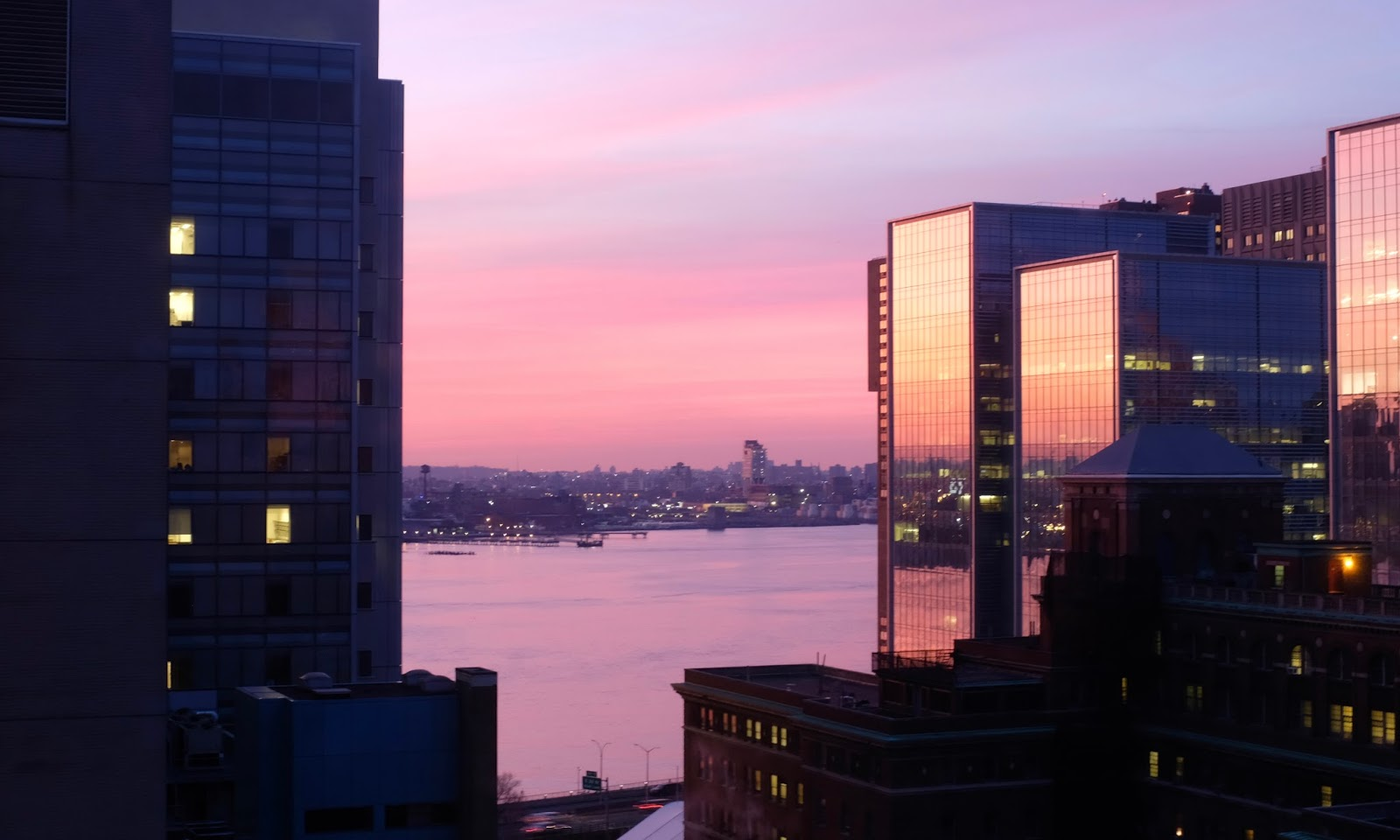 Normally The View From Our Apartment Facing East River In New York City Is A Lovely Warm Yellow Light At Sunrise That Bathes Golden