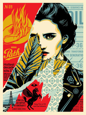 "Obey Giant ""Wrong Path"" Screen Print by Shepard Fairey"