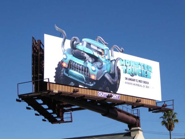 Monster Trucks special extension billboard