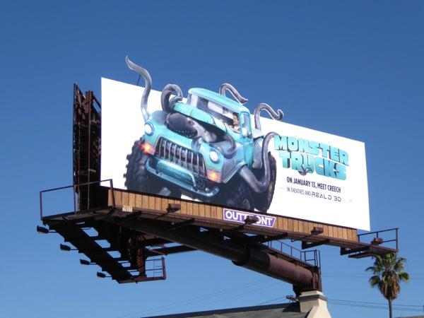 Monster Trucks special extension billboard