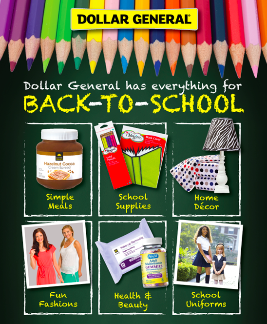 School Supply Savings and $5 off coupon at Dollar General