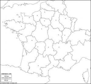 Mapa Y Bandera De Francia Para Dibujar Pintar Colorear