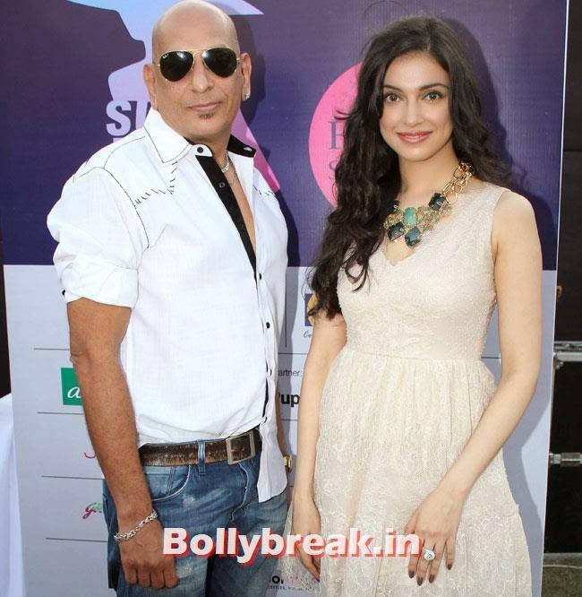 Salim Asgar Ali and Divya Khosla, Yuvika, Divya at Femina Festive Showcase 2014 Fashion Show