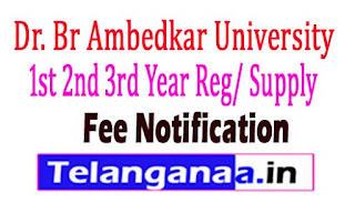 BRAU Degree 1st 2nd 3rd Year Reg/ Supply Fee Notification 2017
