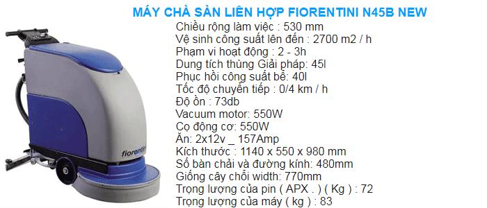 Máy lau sàn nhà máy Fiorentini sử dụng bình accquy