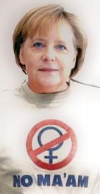 Witziges Bild zum lachen - Angela Merkel in T-Shirt