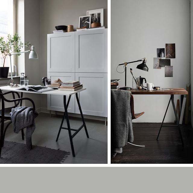 Minimal style home office / IKEA • the round button blog