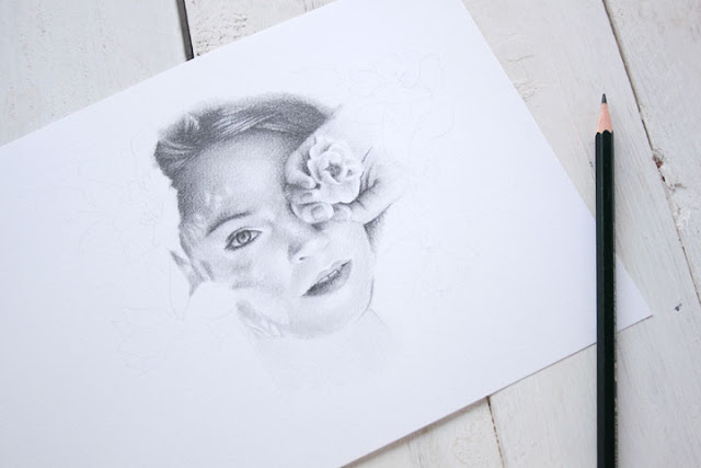 Ilustración realista a lápiz de grafito