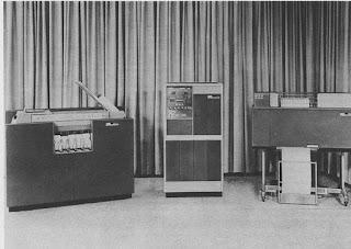 Fotografía del arcaico ordenador IBM 1401