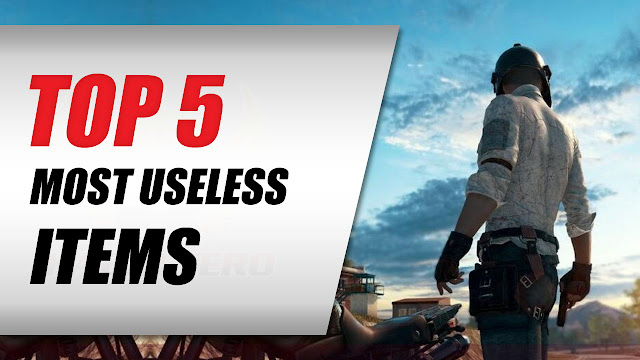 PUBG Mobile • TOP 5 Most Useless Items In The Game???