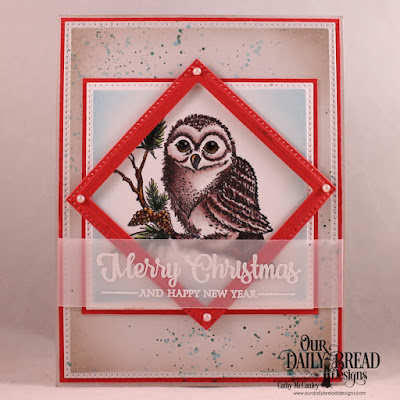 Stamp Sets: Winter Greetings, Peaceful Wishes  Custom Dies: Pierced Rectangles, Pierced Squares