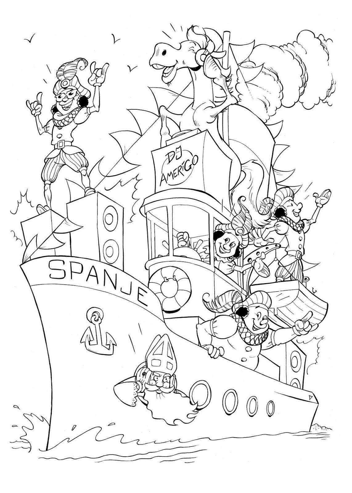 Damen Illustraties presenteert!: Sinterklaas kleurplaat