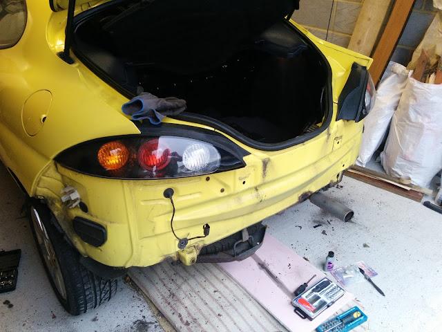 Ford Puma rear bumper removed