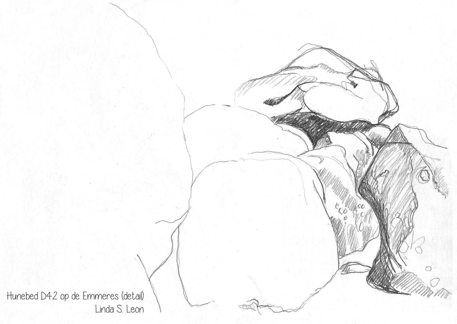 Hunebed D42 op de Emmeres (detail) door Linda S. Leon