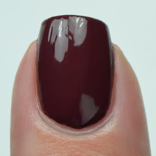deep red creme nail polish