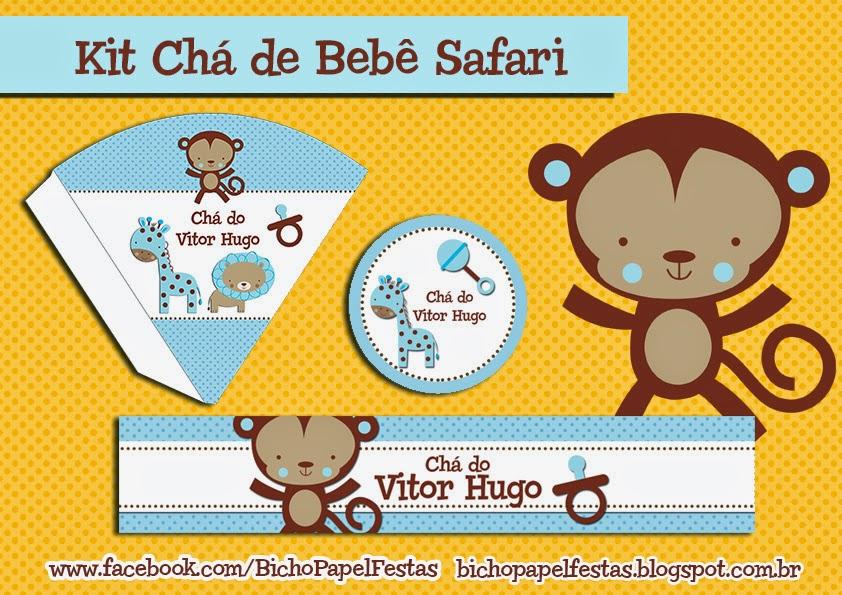 Kit Chá de Bebê Safari