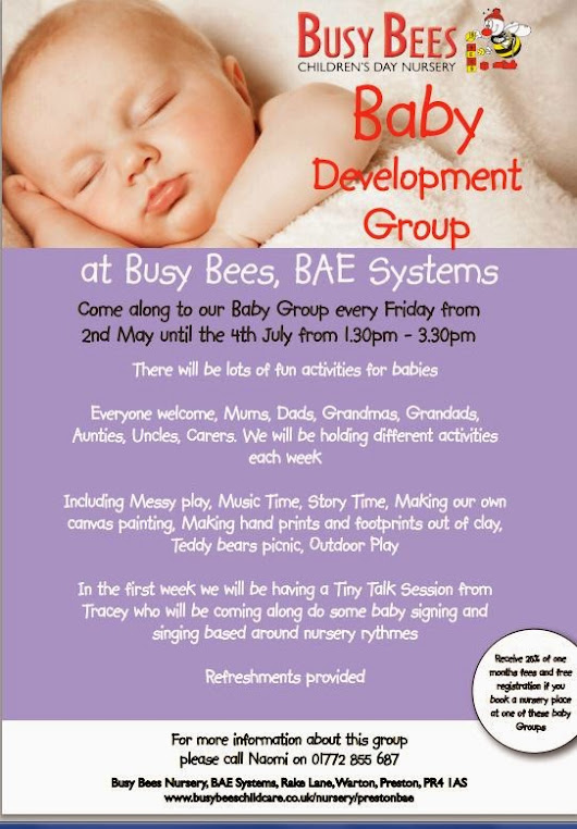 PRESTON and WEETON HIVE: BusyBees Baby Group - Warton - every Friday