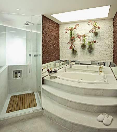 Construindo minha casa clean pedras decorativas - Cuartos de banos modelos ...