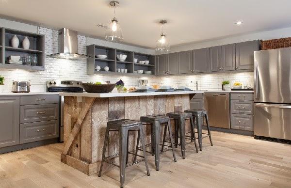 Rustic Reclaimed Kitchen Light Fixtures Flush Mount