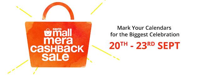 Paytm Mall Mera Cashback Mega Sale