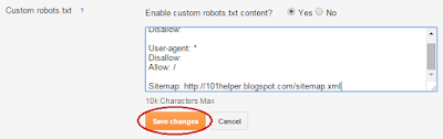 robots.txt for blogger